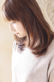 大人女子にオススメ☆ミディアムボブ|ANT'S Southern-Resort 茅ヶ崎店のヘアスタイル