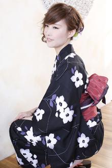 ショートスタイルの浴衣美人|ANT'S Southern-Resort 茅ヶ崎店のヘアスタイル