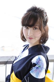 落ち着いた大人女性の浴衣とアップ|ANT'S Southern-Resort 茅ヶ崎店のヘアスタイル