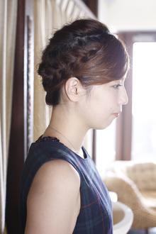 編み込みアップスタイル|ANT'S Hair and Resort 辻堂本店のヘアスタイル