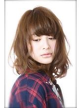 シフォンベージュ×大人可愛いボブ 美容室 Confortoのヘアスタイル