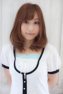 ミディアムのナチュラルスタイル☆|Sourireのヘアスタイル