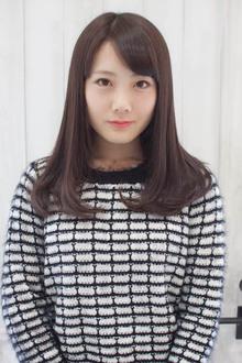 毛先ワンカールのセミロングスタイル☆|Sourireのヘアスタイル