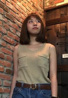 ギリギリ肩上の重ためのボブスタイル|Hairdressers DAFのヘアスタイル