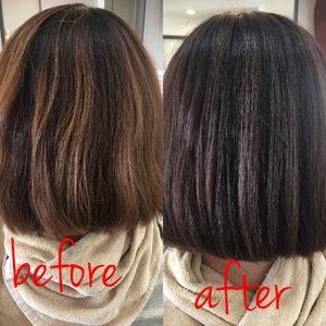 いつもカラーより色ノリの良さ、ツヤ感が違います!!|Salon de Heureuxのヘアスタイル