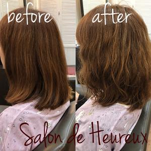 ふんわりしなやかファイバープレックスパーマ|Salon de Heureuxのヘアスタイル