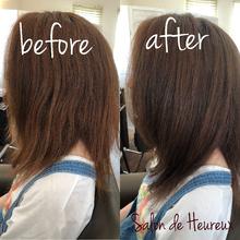 髪への負担94%カット ファイバープレックスカラー|Salon de Heureuxのヘアスタイル