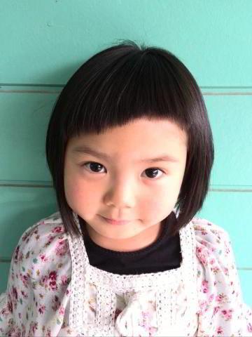 子供 前髪 アシメ