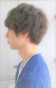 山崎賢人風髪型 メンズゆるふわひし形マッシュパーマショート