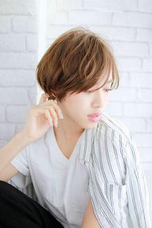 大人かわいい 小顔ショートボブ イルミナグレージュ|錦糸町 美容院 Agateのヘアスタイル