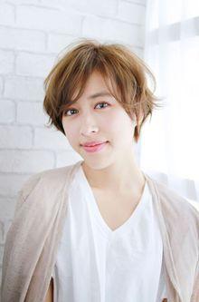 大人かわいい 小顔ショートボブ とろみ ワンカール|錦糸町 美容院 Agateのヘアスタイル