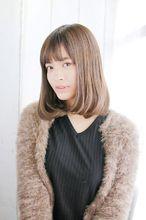 内巻きナチュラルミディアムボブ 錦糸町 美容院 Agate Ryuta のヘアスタイル