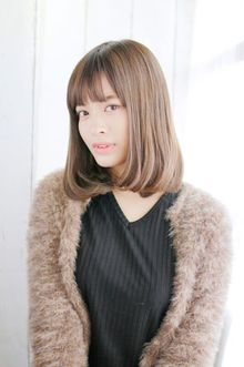 内巻きナチュラルミディアムボブ|錦糸町 美容院 Agateのヘアスタイル
