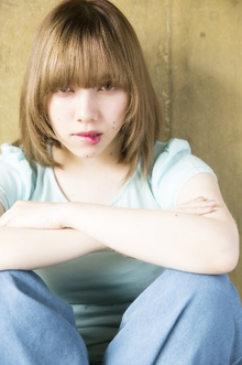 ナチュラルストレートバング|錦糸町 美容院 Agateのヘアスタイル
