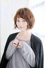 とろみカール×ショートボブ 錦糸町 美容院 Agate Ryuta のヘアスタイル