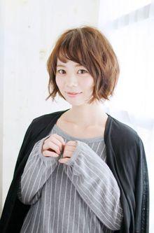 とろみカール×ショートボブ|錦糸町 美容院 Agateのヘアスタイル