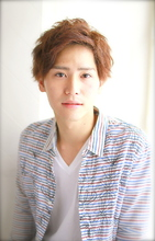ふわゆるMIXパーマ〜セクシーな大人風に〜|錦糸町 美容院 Agateのメンズヘアスタイル