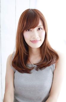 ツヤツヤワンカールセミディ|錦糸町 美容院 Agateのヘアスタイル
