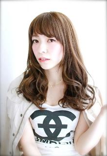 色っぽさが出るフェミニンロング|錦糸町 美容院 Agateのヘアスタイル