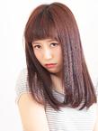 ナチュラルストレートのツヤツヤ☆セミディ☆|押上美容院 vitaのヘアスタイル