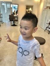 子供カットソフトモヒカン|Hair Salon 1214のヘアスタイル