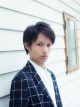 ジェントルマン×サイドパート|Lian 方南町店 松本 沙弥香のメンズヘアスタイル
