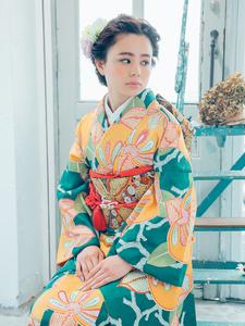 成人式☆クラシカルアップ・着付け|Grand Chariot 笹塚店のヘアスタイル