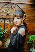 暗髪ロングの編みおろしアレンジ|Grand Chariot 笹塚店 田中 美生のヘアスタイル