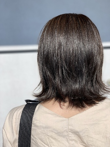 ダークグレージュ ボブ|e-style Lienのヘアスタイル