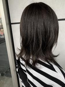 暗髪ロブのレイヤースタイル|e-style Lienのヘアスタイル