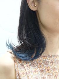 インナーカラー × ブルー #ネイビーカラー