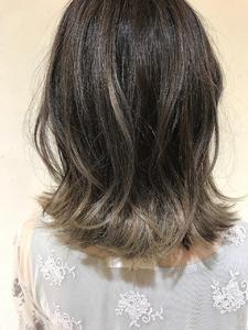 バレイヤージュ【プラチナベージュ】|MATISSEのヘアスタイル