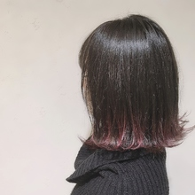 裾カラーレッド|MATISSEのヘアスタイル