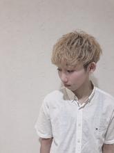 パーマ風にマッシュ|MATISSE 井手 威大理のメンズヘアスタイル