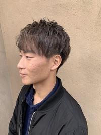 メンズショート カラー【グレーアッシュ】