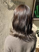 ヘアカラー【ベージュ】波ウェーブスタイリング|MATISSE 石尾 刻矢のヘアスタイル