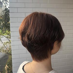ショートスタイル ピンク オレンジ|healing salon Casaのヘアスタイル