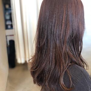 ピンク ラベンダーピンク 春カラー|healing salon Casaのヘアスタイル