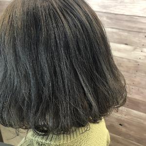 オリーブ オリーブグレージュ ボブ タンバルモリ風|healing salon Casaのヘアスタイル