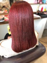 レッドカラー チェリーレッド healing salon Casa 小嶋 美咲のヘアスタイル