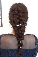 編み下ろしアレンジ|healing salon Casaのヘアスタイル