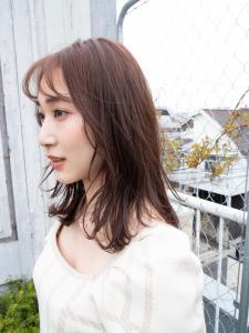 ナチュラルヘア  Feel by emi+ 【半個室サロン】のヘアスタイル