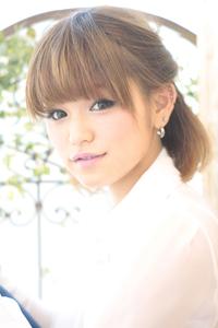 黒髪でも似合う!小顔髪型ゆるふわパーマヘアカタログ〜ラクラク可愛いアレンジ(え-080)