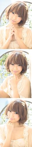 黒髪でも似合う!小顔髪型ゆるふわパーマヘアカタログ〜顔型別アレンジ編001