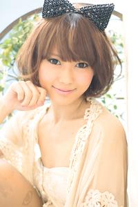 黒髪でも似合う!小顔髪型ゆるふわパーマヘアカタログ〜ラクラク可愛いアレンジ(え-094)