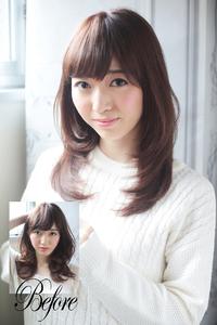 丸顔や面長でも似合う小顔に見える髪型8