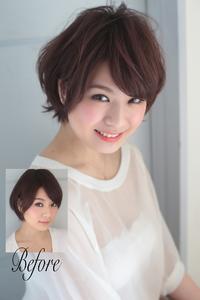 丸顔や面長でも絶対に似合う小顔に見える髪型091