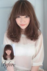 丸顔や面長でも絶対に似合う小顔に見える髪型094