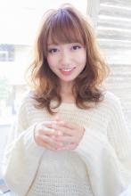 ゆるふわひし形とろみベージュカラー扱いやすい小顔軽めミディー|Secretのヘアスタイル