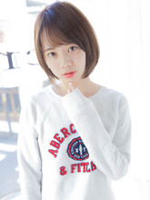 大人かわいい先細り小顔ショートボブ|Secretのヘアスタイル